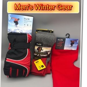 Other - Winter Gear for Him Gloves, Mask & Thermal Socks
